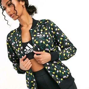 Adidas Originals AOP Floral Black Track Jacket Top